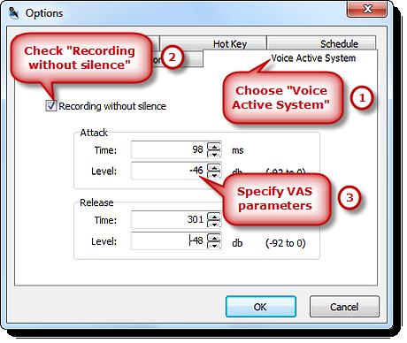 Set the Parameters of VAS
