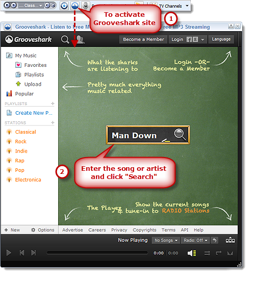 Activate Grooveshark Site