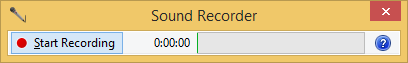 Windows Sound Recorder