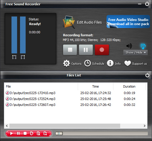 Free Audio Recorder Software - Free Sound Recorder